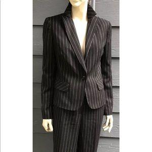 Kenneth Cole Women Pant Suit Black Lined Sz 10